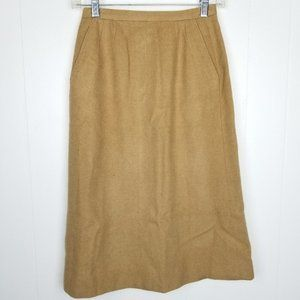 Vintage Cricketeer Tan Camel Hair Pencil Skirt